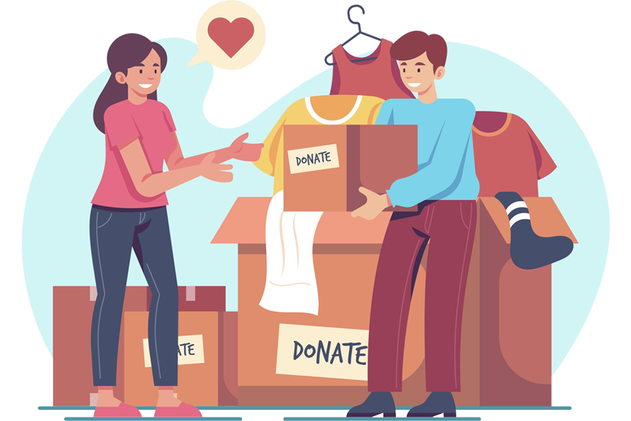 two people donation